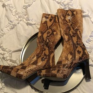 Snake skin look boots